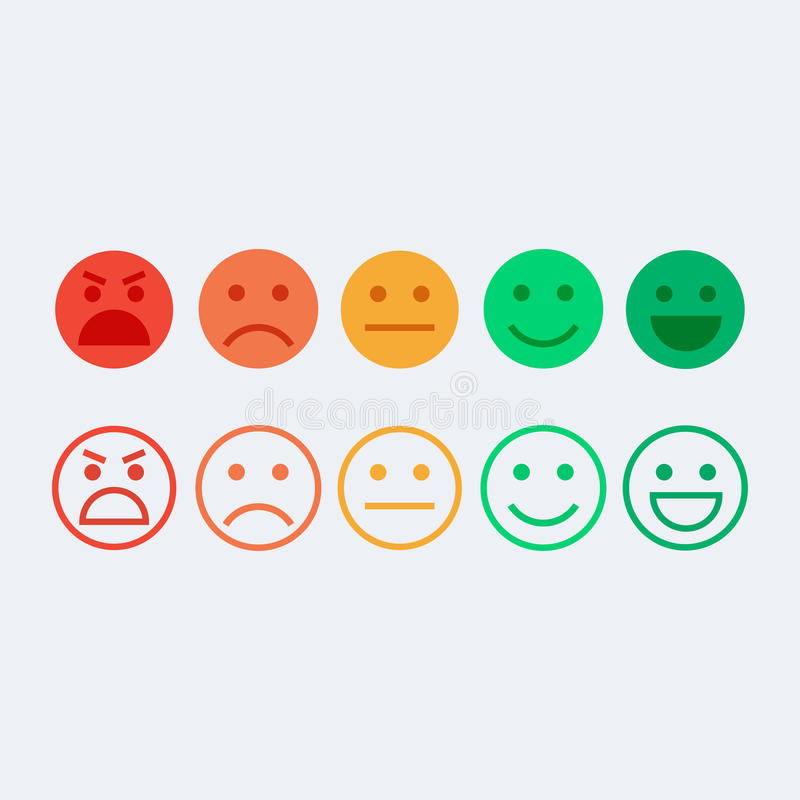 Conceito do vetor do feedback ilustração stock