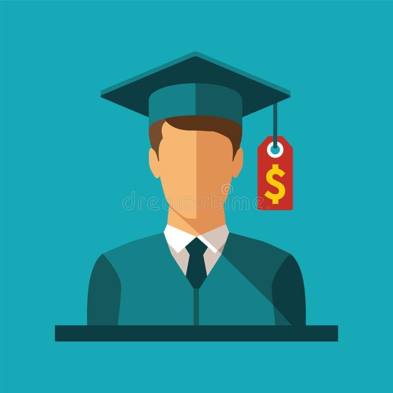 Conceito do vetor do investimento na educação ilustração do vetor