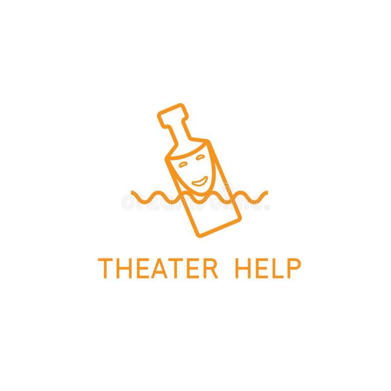 Conceito do vetor do teatro da ajuda com máscara ilustração royalty free