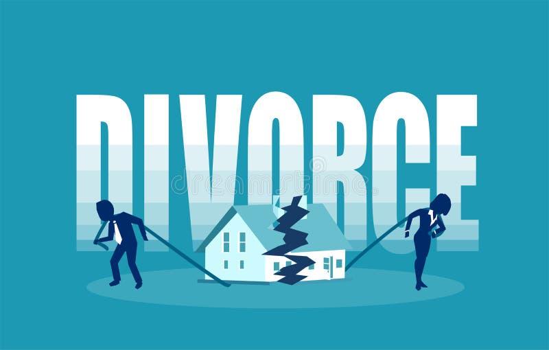 Conceito do vetor dos problemas do divórcio e da união ilustração stock