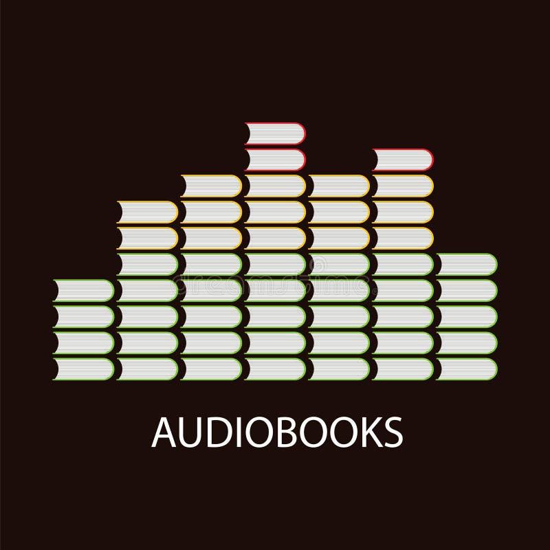 Conceito do volume de Audiobook ilustração stock