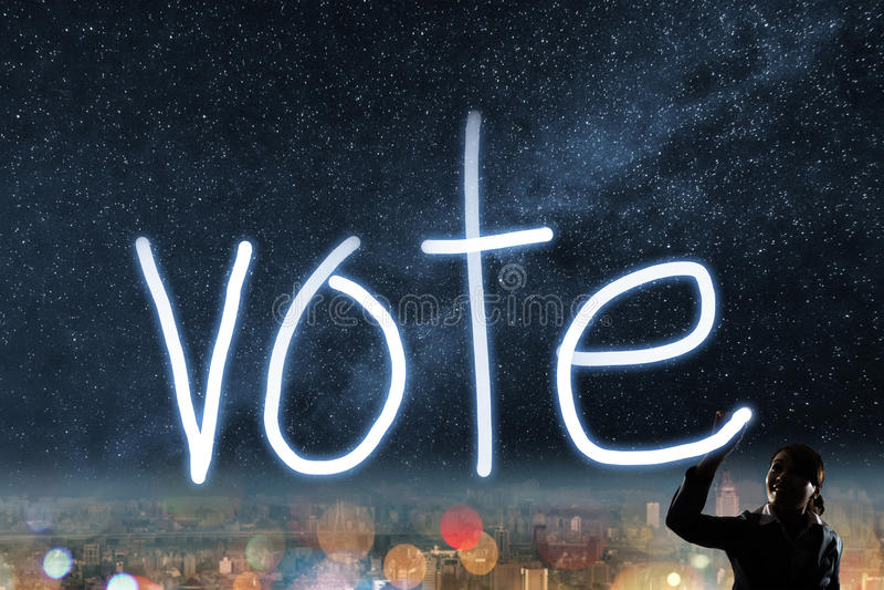 Conceito do voto foto de stock royalty free