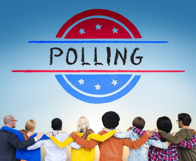 Conceito do voto da democracia do referendo do governo da política imagem de stock