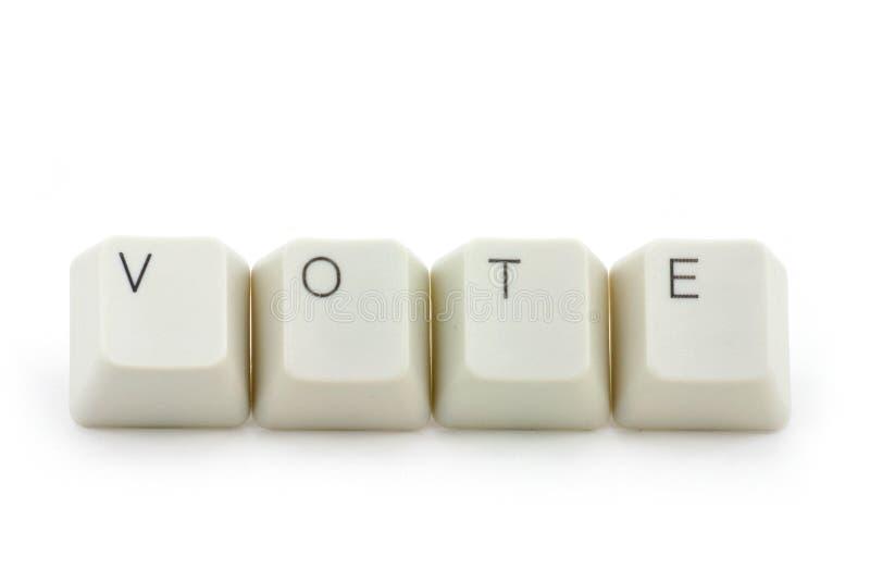 Conceito do voto em linha imagens de stock