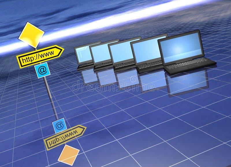 Conceito do Web ilustração stock