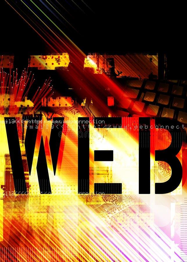Conceito do Web ilustração do vetor