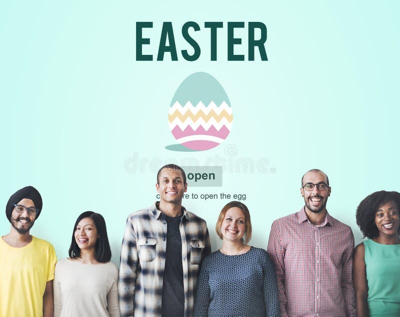 Conceito do Web page da celebração do feriado da Páscoa foto de stock