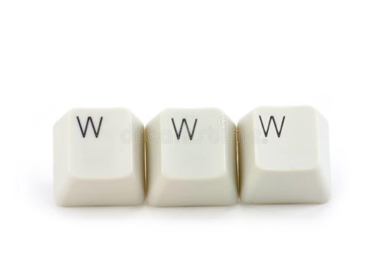 Conceito do World Wide Web fotos de stock royalty free