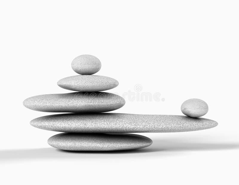 Conceito do zen ilustração stock
