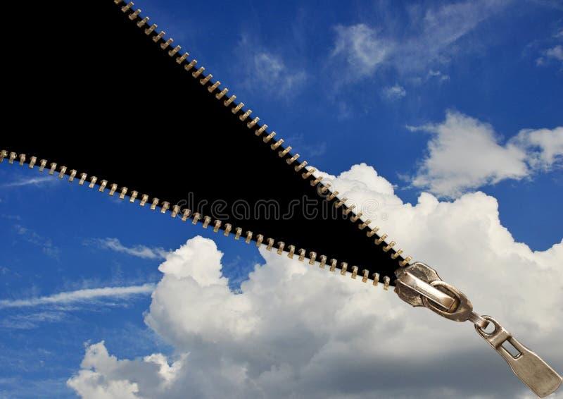 Conceito do Zipper foto de stock royalty free
