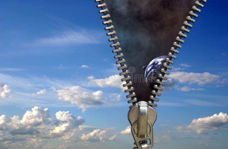 Conceito do Zipper fotografia de stock royalty free