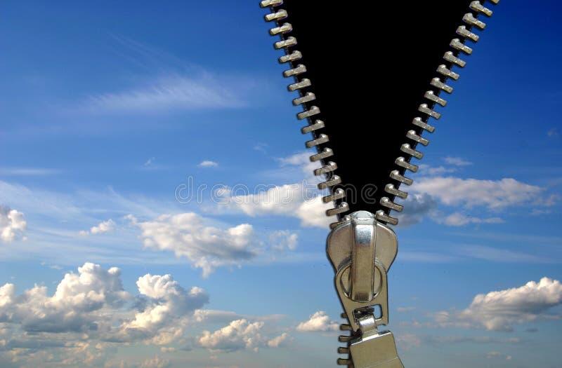 Conceito do Zipper fotografia de stock