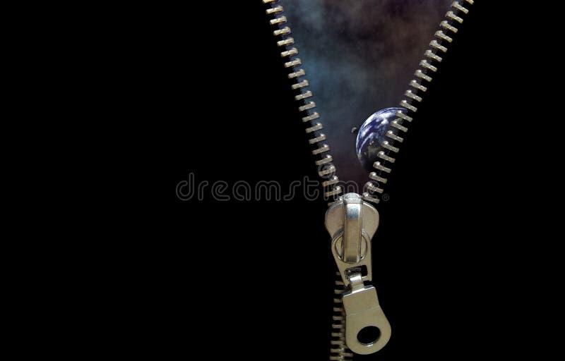 Conceito do Zipper foto de stock