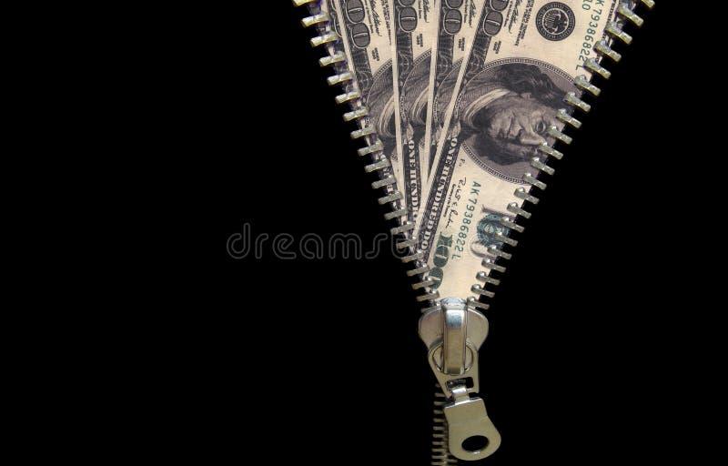 Conceito do Zipper fotos de stock