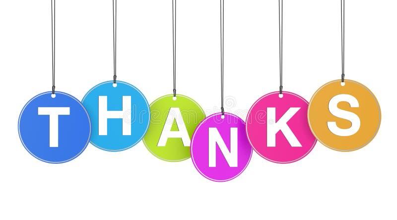 Conceito Dos Agradecimentos Em Etiquetas Fotos de Stock