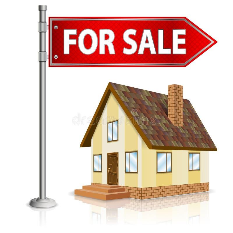 Conceito dos bens imobiliários ilustração stock