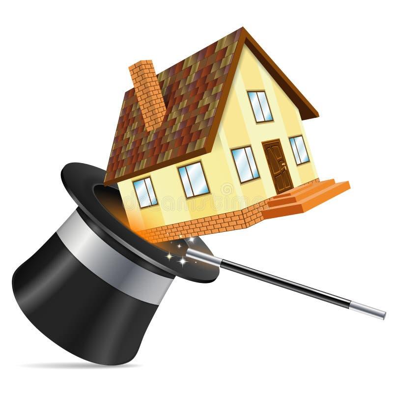 Conceito dos bens imobiliários ilustração royalty free