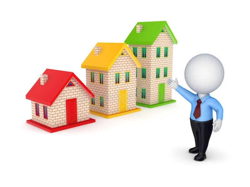 Conceito dos bens imobiliários. ilustração royalty free