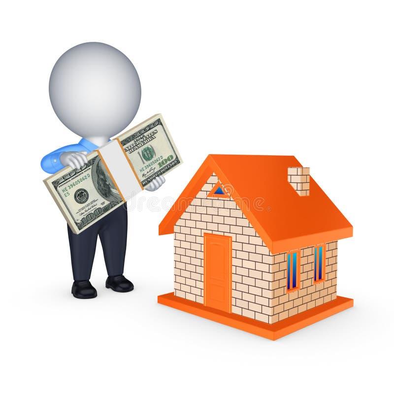 Conceito dos bens imobiliários. ilustração do vetor