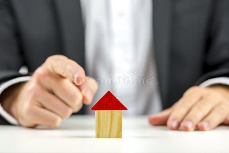 Conceito dos bens imobiliários fotos de stock