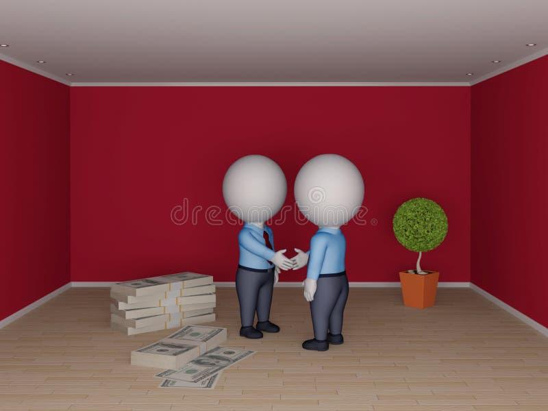 Conceito 6 dos bens imobiliários ilustração royalty free