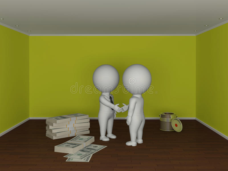 Conceito 6 dos bens imobiliários ilustração stock