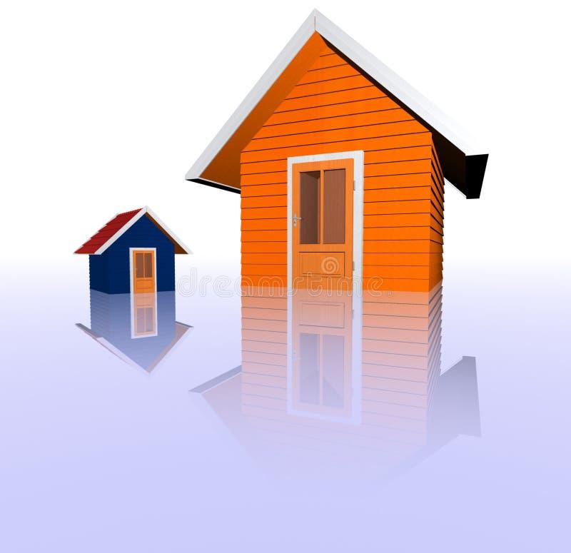 Conceito dos bens imobiliários imagens de stock