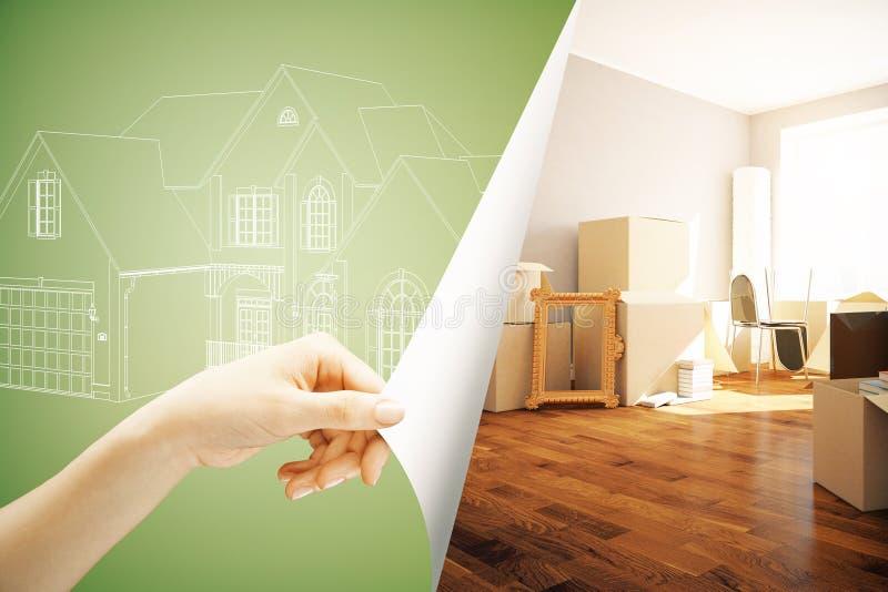 Conceito 6 dos bens imobiliários ilustração do vetor