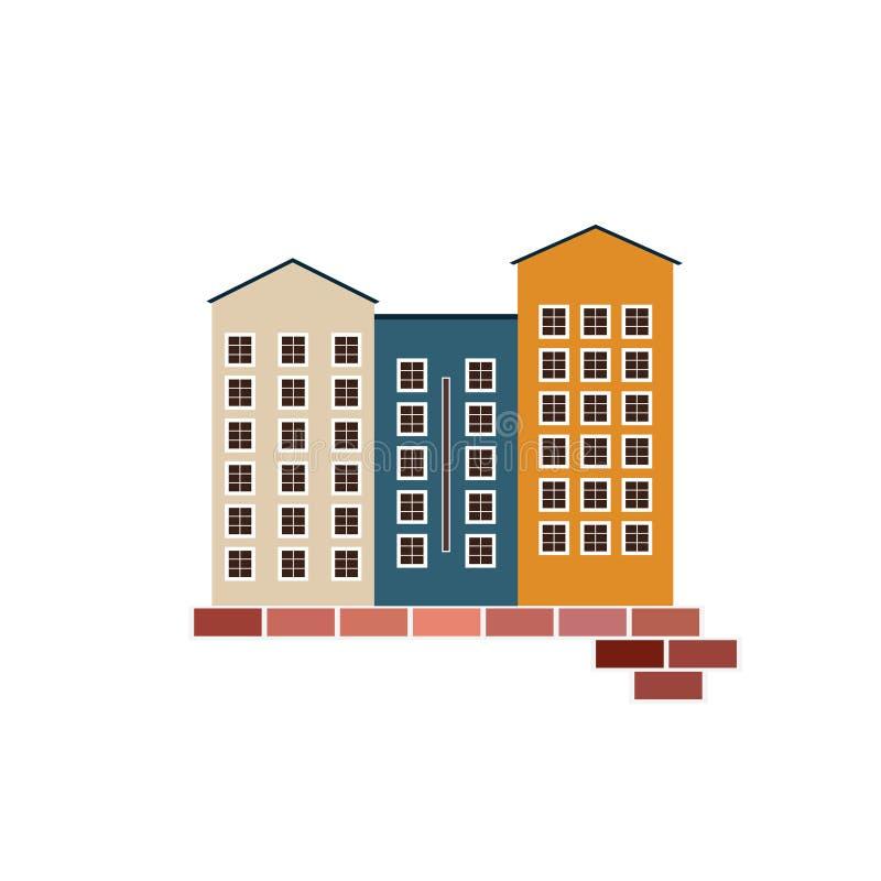 Conceito 6 dos bens imobiliários Apartamentos para a venda/aluguel ilustração royalty free