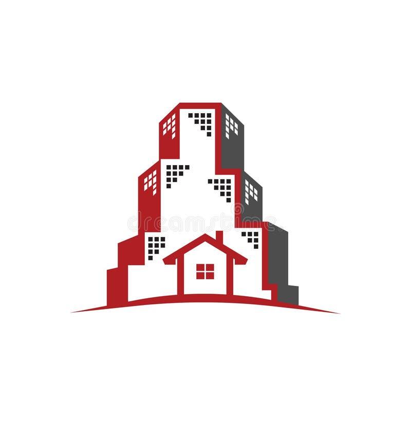 Conceito dos bens imobiliários do logotipo ilustração royalty free