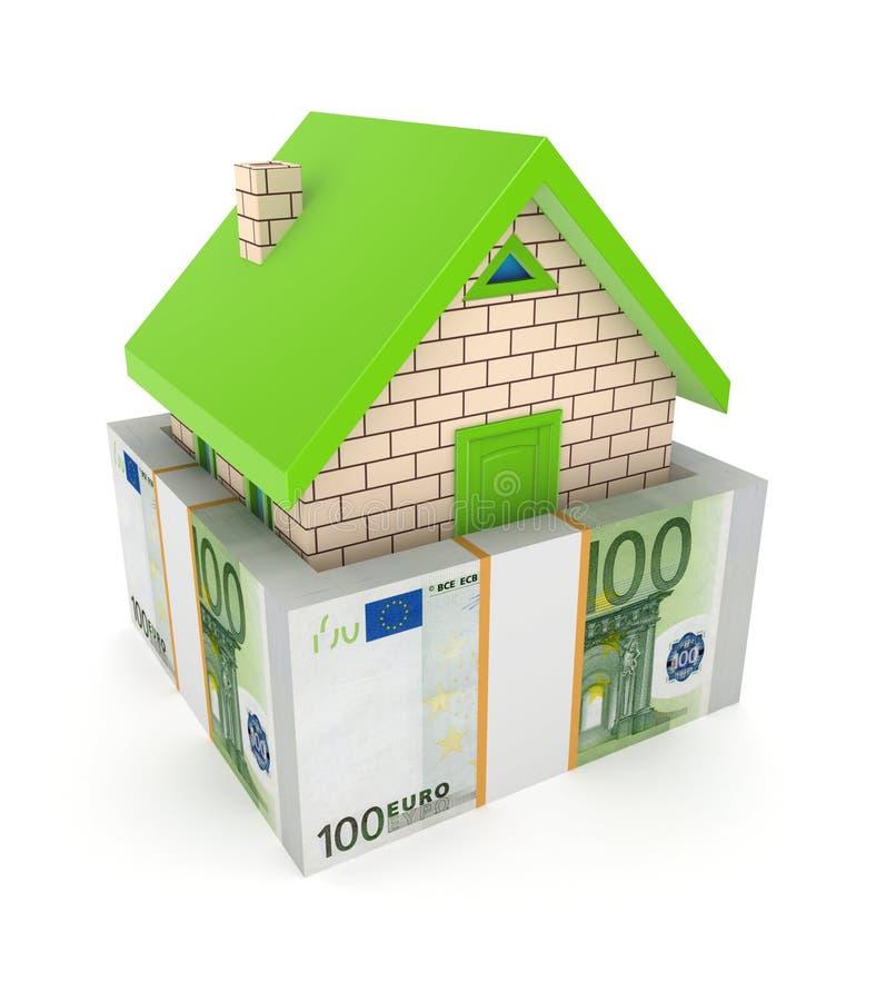 Conceito dos bens imobiliários. ilustração stock