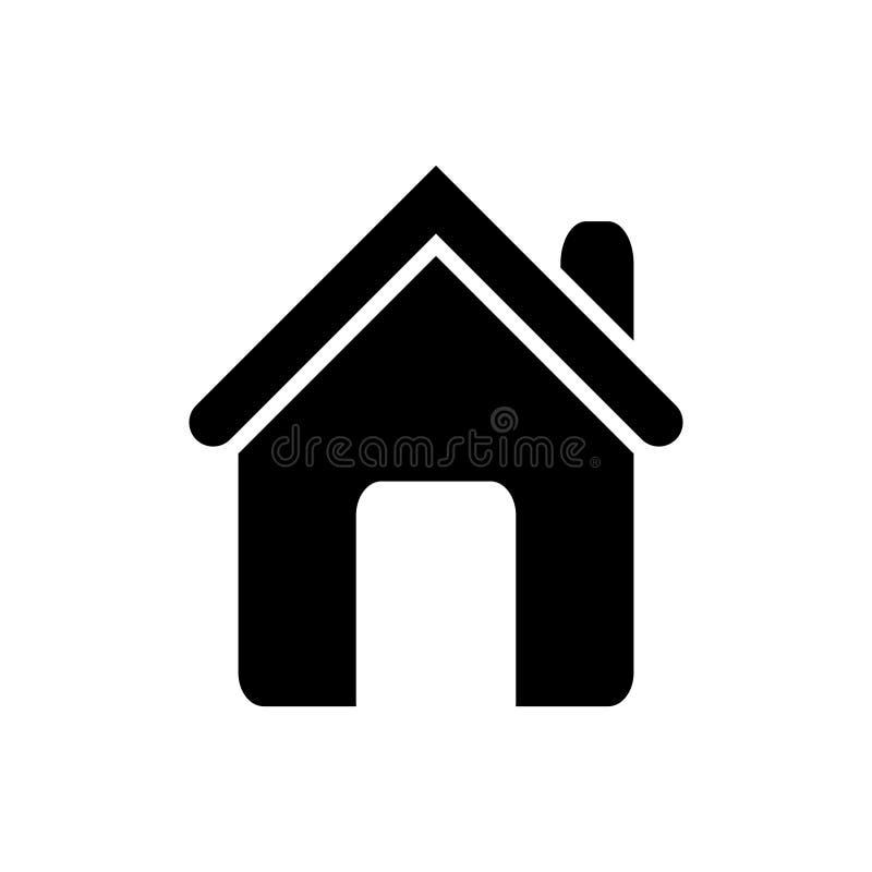 Conceito dos bens imobili?rios da ilustra??o do vetor do ?cone da casa da casa para o projeto gr?fico, logotipo, site, meio socia ilustração do vetor
