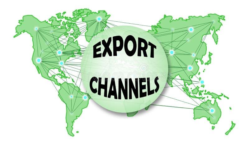 Conceito dos canais da exportação ilustração stock