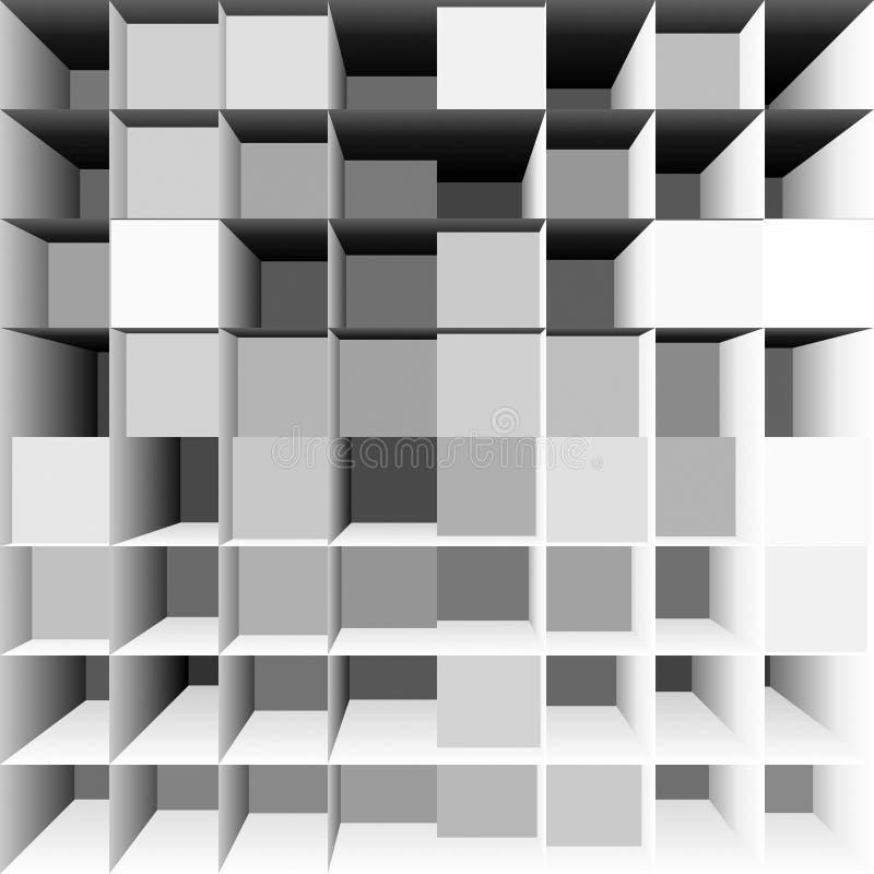 Conceito dos compartimentos ilustração stock