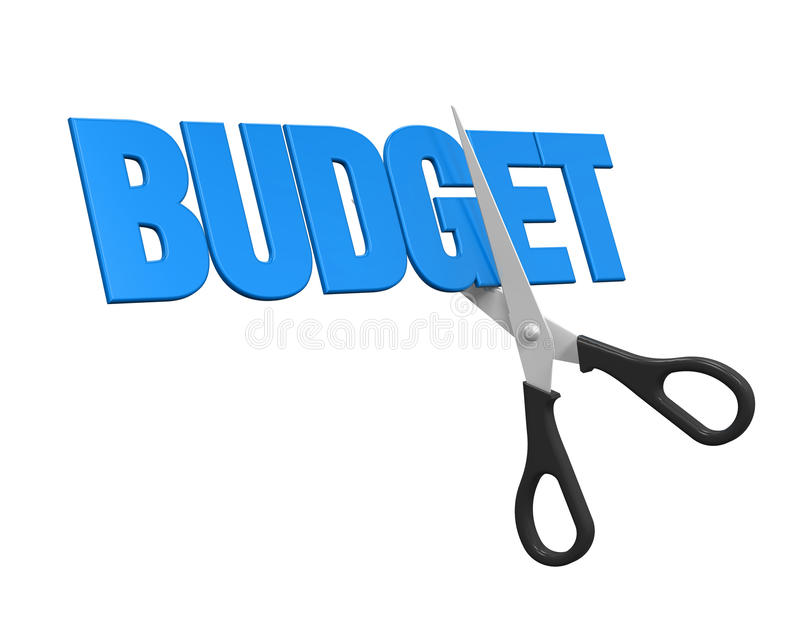 Conceito dos cortes no orçamento ilustração do vetor