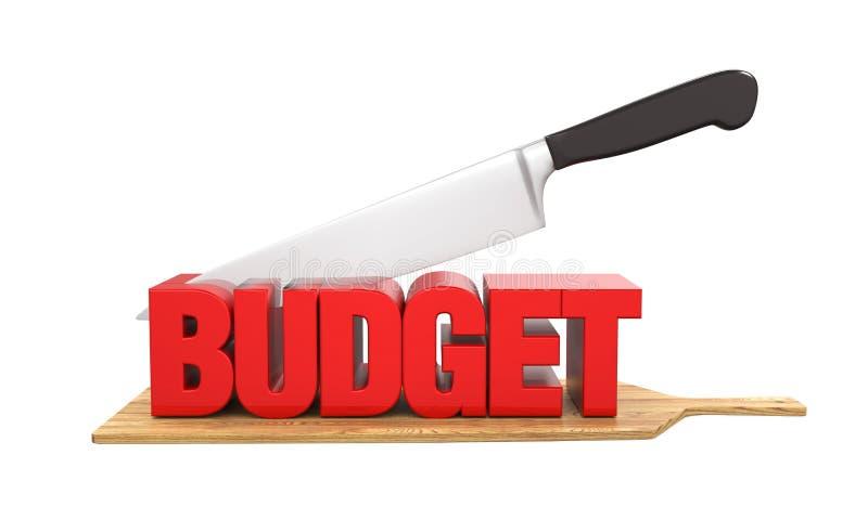 Conceito dos cortes no orçamento ilustração royalty free