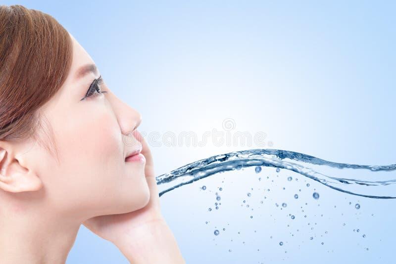 Conceito dos cuidados com a pele da beleza imagens de stock royalty free