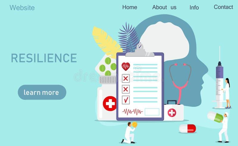 Conceito dos cuidados médicos da neurologia ilustração stock
