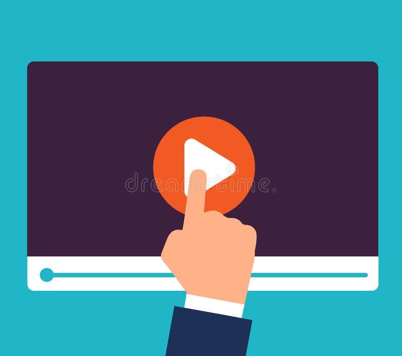 Conceito dos cursos em linha Formação e educação video Estudo e aprendizagem do fundo do vetor ilustração do vetor