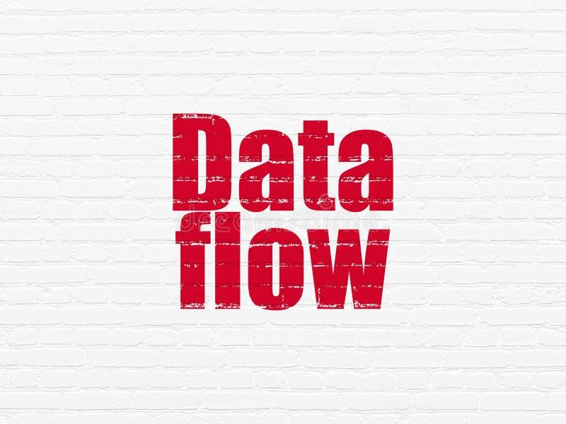 Conceito dos dados: Fluxo de dados no fundo da parede ilustração royalty free