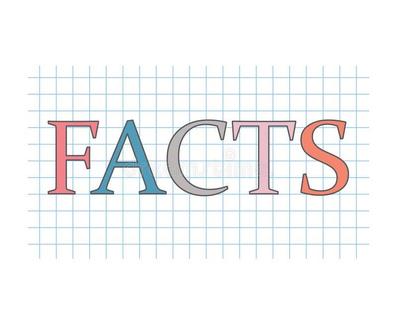 Conceito dos fatos ilustração royalty free