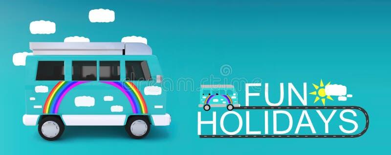 Conceito dos feriados do divertimento ilustração stock