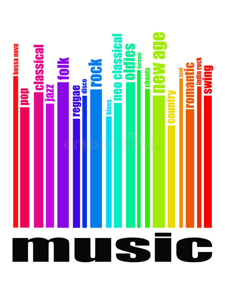 Conceito dos gênero da música ilustração royalty free