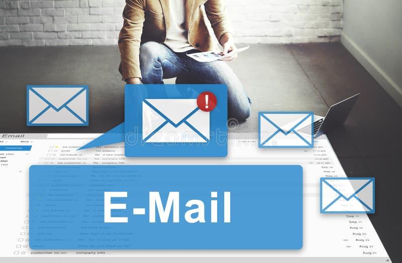 Conceito dos gráficos de uma comunicação eletrônica de Inbox do email imagem de stock