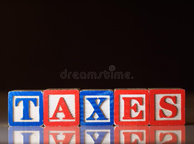 Conceito dos impostos imagem de stock royalty free