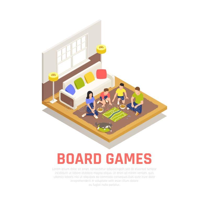 Conceito dos jogos de mesa ilustração stock