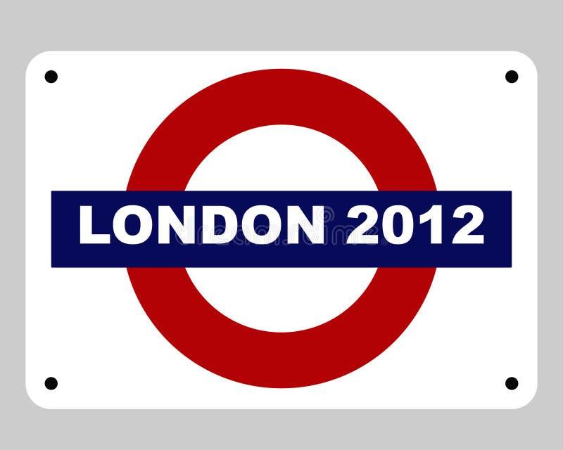 Conceito dos Olympics de Londres ilustração stock