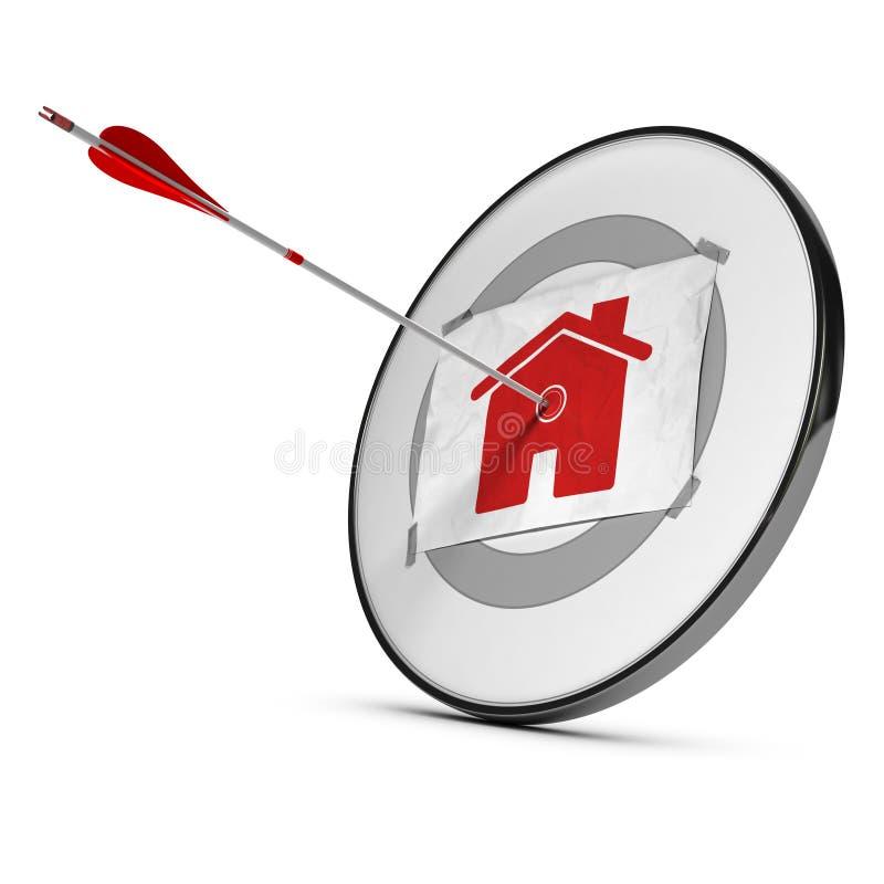 Conceito dos organismos de investimento imobiliário ilustração stock