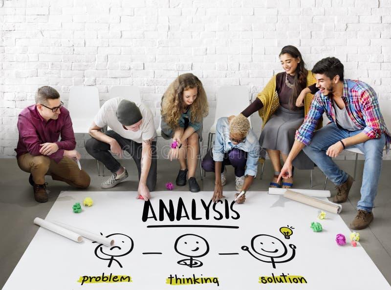 Conceito dos povos do clique do pensamento criativo da análise imagem de stock