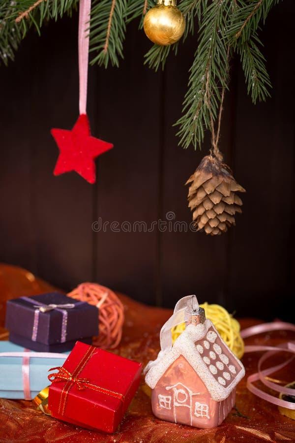 Conceito dos presentes do Natal fotos de stock royalty free